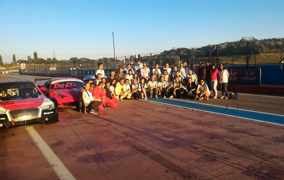 A day on a professional track driving a Ferrari